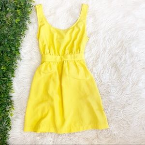 Yellow Sundress With Bow & Pockets